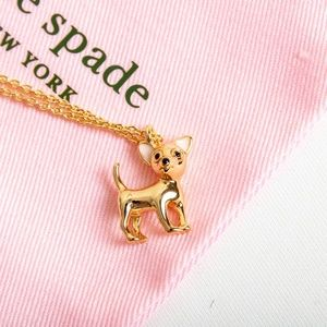 Kate Spade Haute Stuff Chihuahua dog Necklace